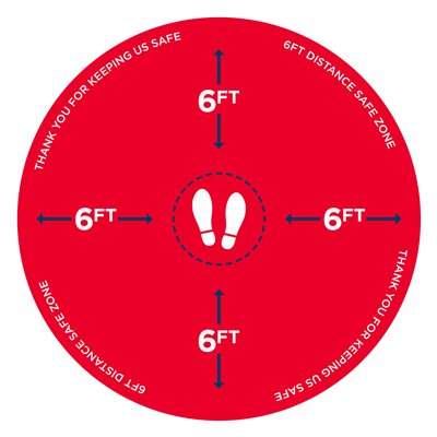 CIRCLE W FEET RED SIGNS