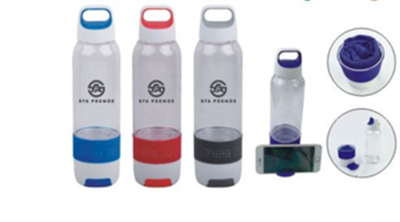 Water Bottle With Built in Cooling Towel