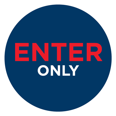 "ENTER ONLY 16"" - WALL"