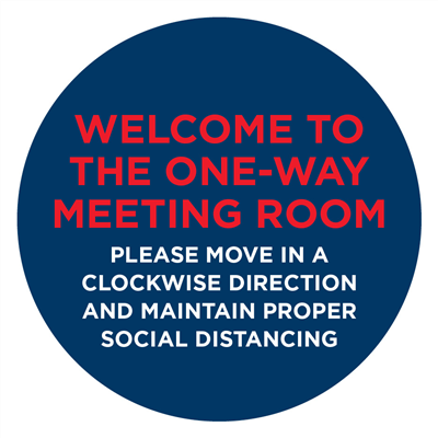 ONE WAY MEETING  DECAL - GLASS