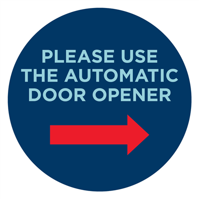 AUTOMATIC DOOR RIGHT - GLASS SIGNS