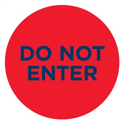 DO NOT ENTER RED - GLASS