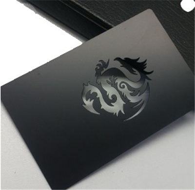 Black Matte finish Stainless Steel Cards