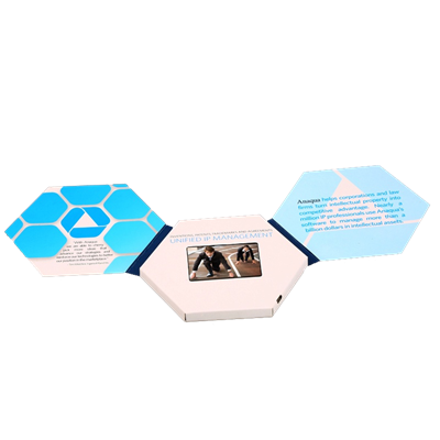 "2.4"" Hexagon Video Brochure"