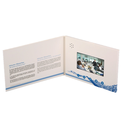 "4.3"" Hardcover Video Brochure"