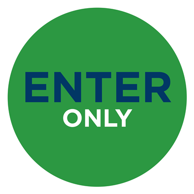 ENTER ONLY -WALL GREEN