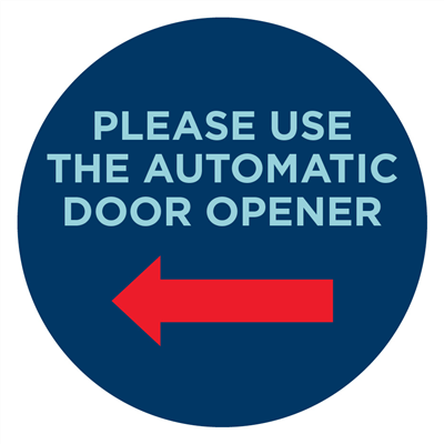 AUTOMATIC DOOR LEFT - WALL SIGNS
