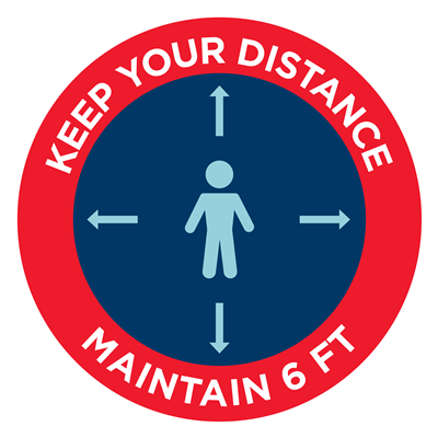 KEEP YOUR DISTANCE  - WALL
