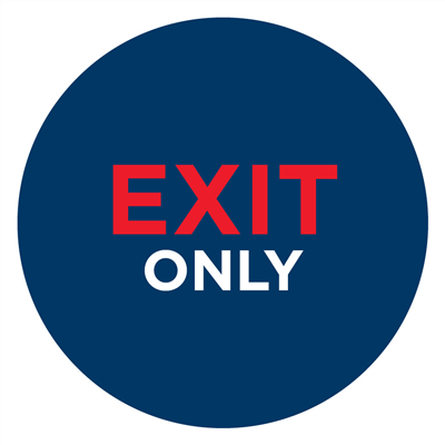"EXIT ONLY 16"" - WALL"