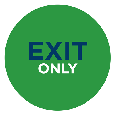 EXIT ONLY WALL GREEN