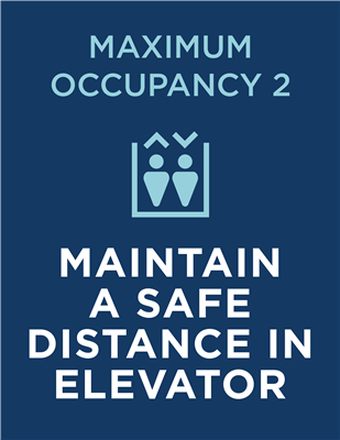 SAFE DISTANCE ELEVATOR - WALL