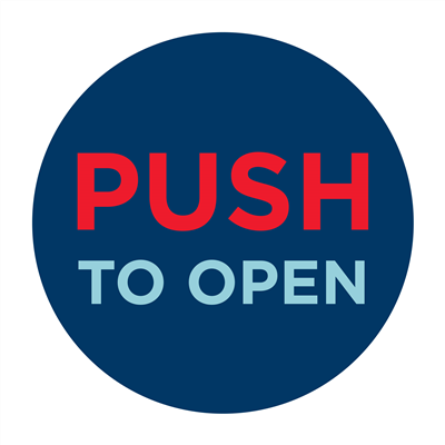 PUSH TO OPEN - WALL
